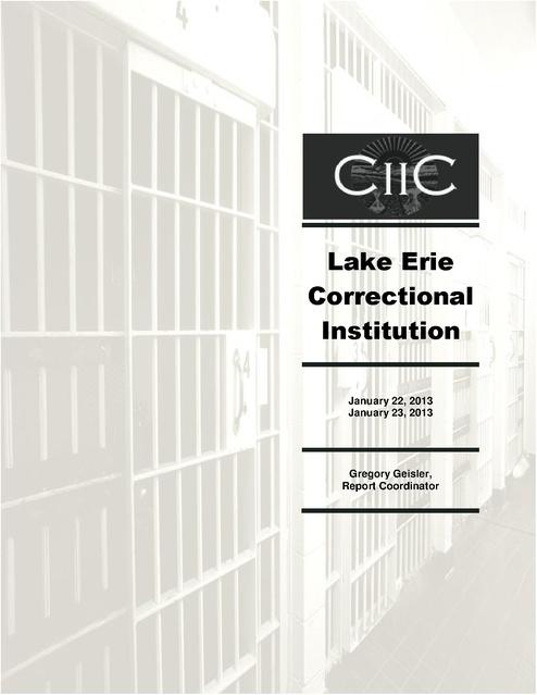 Cca Lake Erie Correctional Report Jan 2013 | Prison Legal News