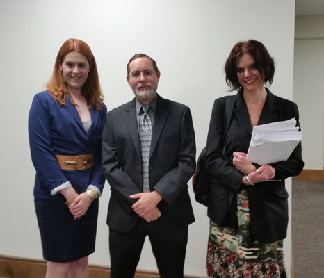 On April 10, 2018 Alex Friedmann spoke before the TN House Government Subcommittee, on the TDOC sunset bill, and related issues involving CoreCivic. Pictured Paula Smith, Jeannie Alexander and Alex.