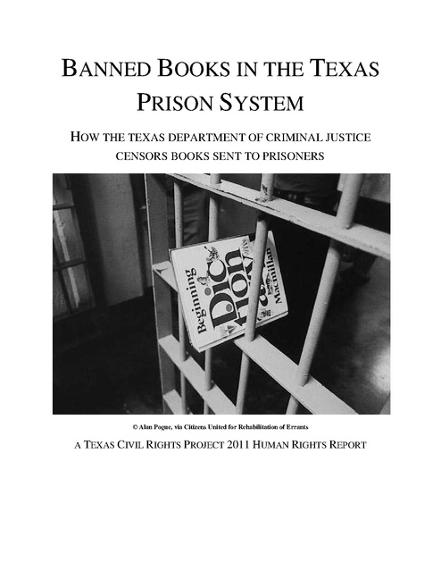 prison book censorship report  texas civil rights project