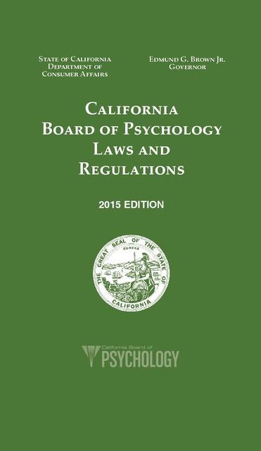 Array - laws and regulations california board of psychology 2015      rh   prisonlegalnews org