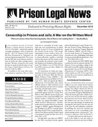 December, 2018 Issue | Prison Legal News