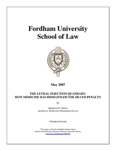Fordham University School Od Law Denno Mcgavney Research