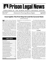 April, 2019 Issue | Prison Legal News