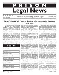 October, 2009 Issue | Prison Legal News