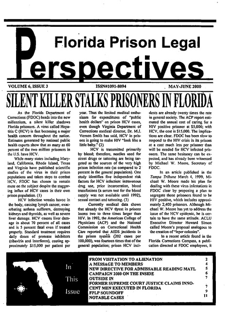 Fplp May Jun 2000 Prison Legal News