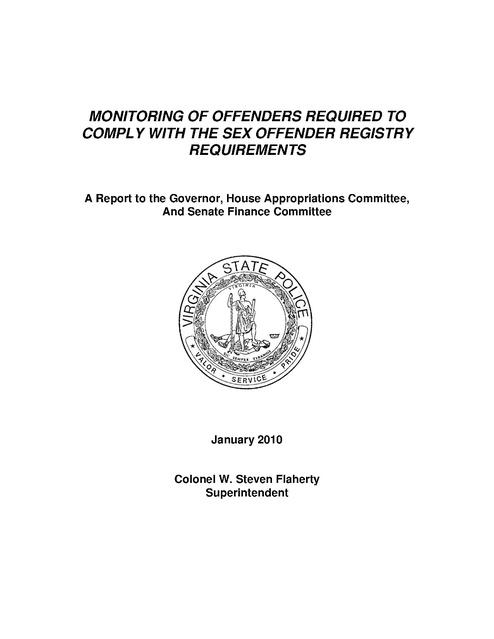 virginia state police sex offenders registry