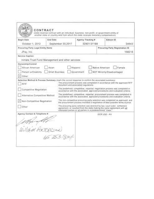 Tndoc Jpay Contract 2012-2017   Prison Legal News