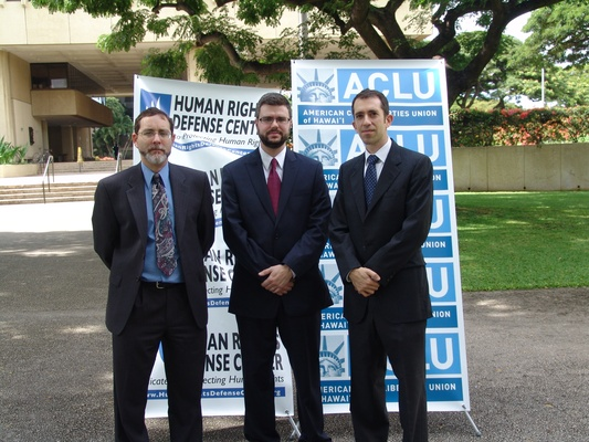 HRDC & ACLU legal team in Hawaii