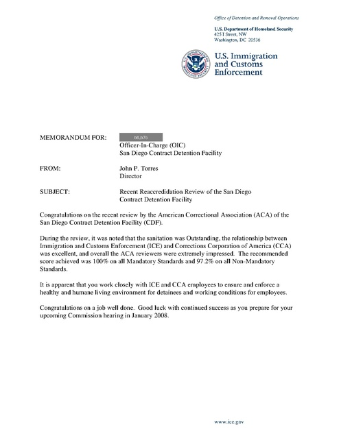 Ice Facility Audits 2003-2008 | Prison Legal News