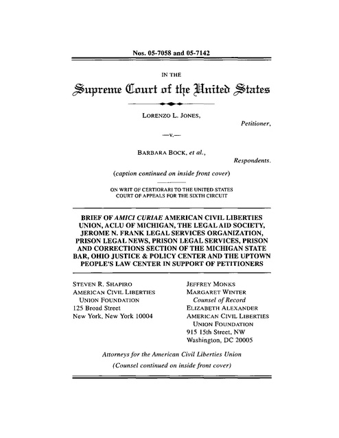 PLN US Supreme Court Amicus Brief in support of plaintiff in