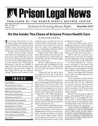 November, 2018 Issue | Prison Legal News