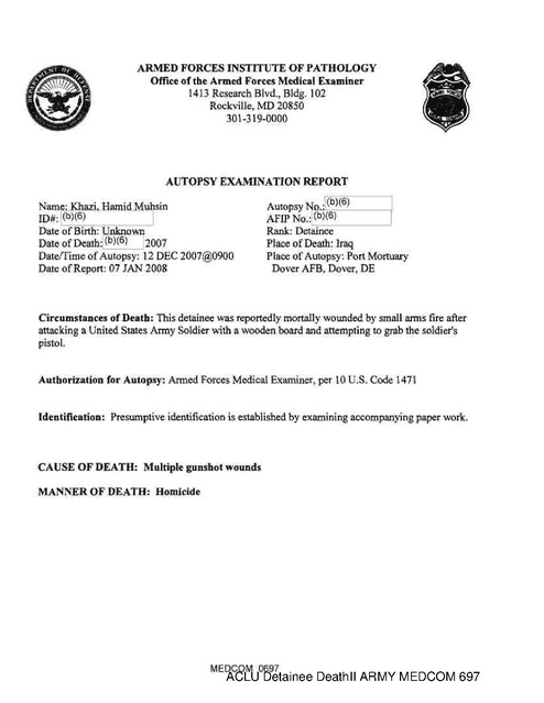 Aclu Military Prison Death Reports Part8 | Prison Legal News