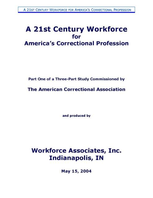 Aca, Correctional Workforce Study, 2004   Prison Legal News