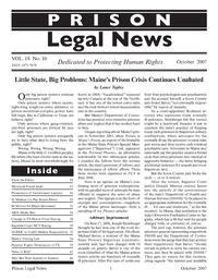 October, 2007 Issue | Prison Legal News