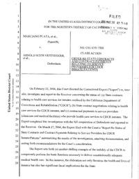 Plata v  Schwarzenegger, Ca, Medical Takeover, Order Re
