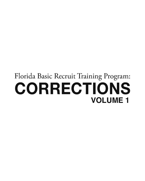 FL Corrections Officer Training Manual, FDLE, 2013   Prison Legal News