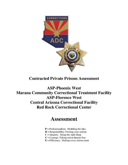 Contracted Private Prisons Assessment Az Doc 2015 Prison Legal News