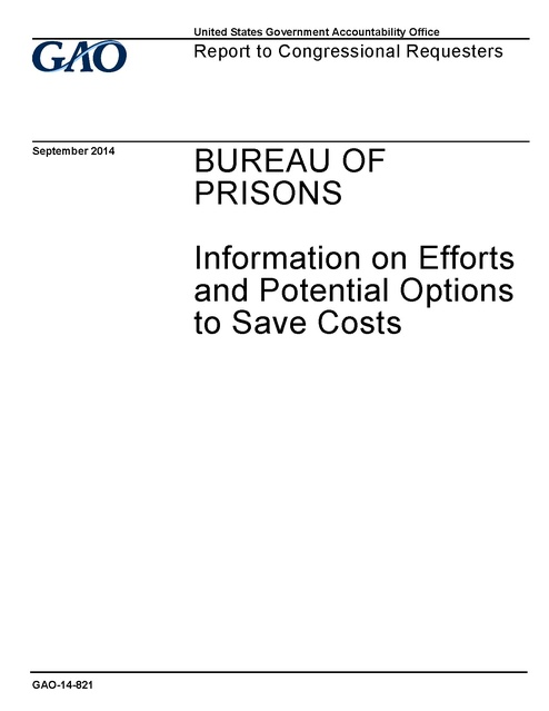 Bureau Of Prisons Information On Efforts And Potential