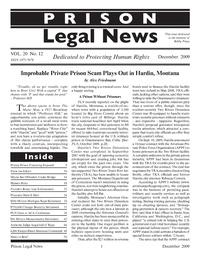 December, 2009 Issue Prison Legal News  Prison Legal News