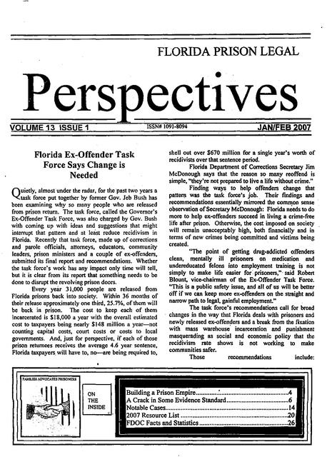 Fplp Jan Feb 2007 Prison Legal News