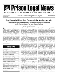 March, 2017 Issue | Prison Legal News