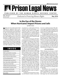 May, 2018 Issue | Prison Legal News