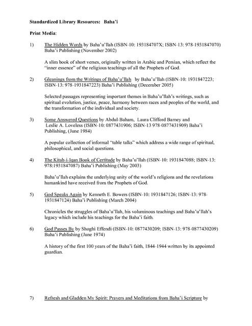 Fbop Standardized Chapel Library Project List | Prison Legal