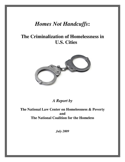 Criminalization Of Homeless In Us Report Nlchp Nch 2009 Prison Legal News