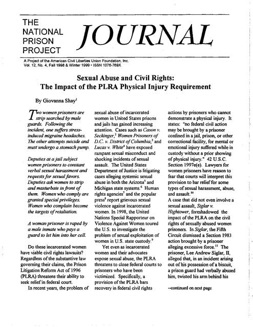 Journal 12-4 | Prison Legal News