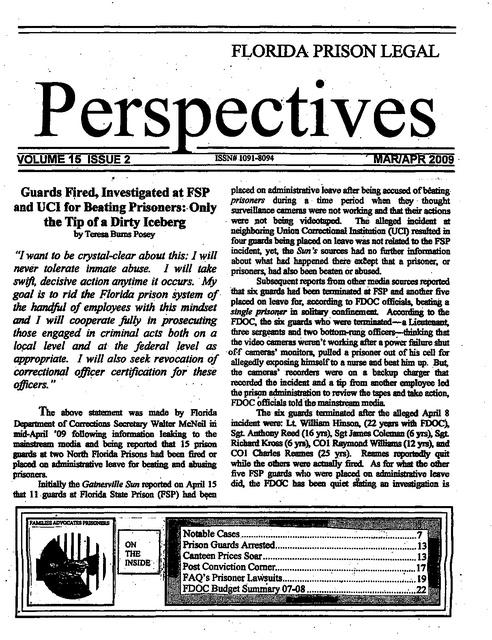 Fplp Mar Apr 2009   Prison Legal News